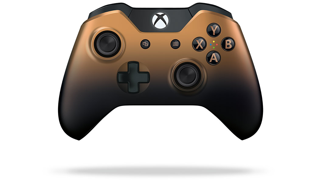 Xbox Copper Shadow 控制器正面圖