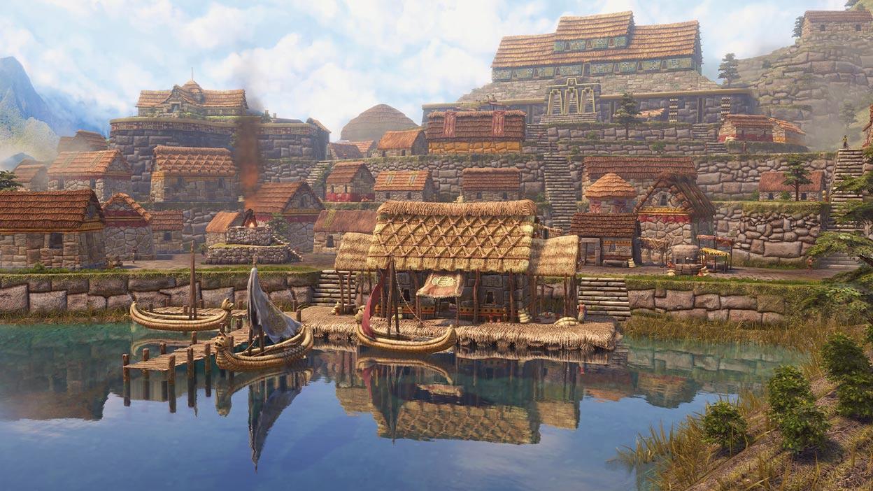 Cidade Inca à beira d'água