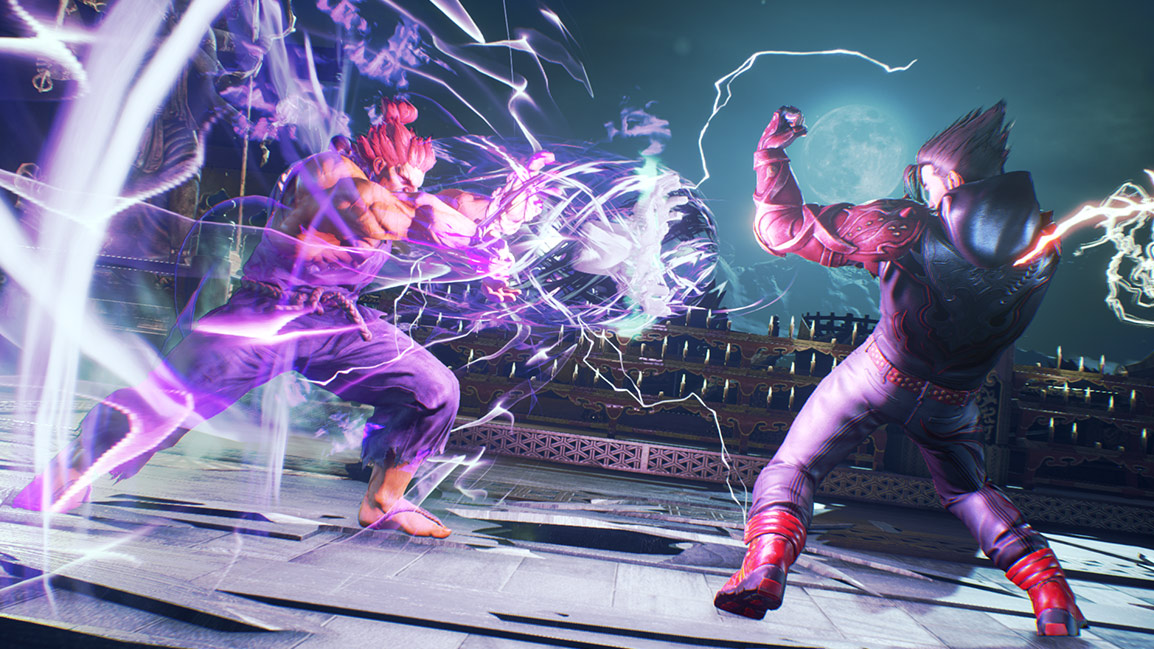 Akuma firing a blast at Jin