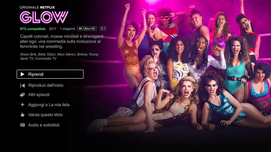 GLOW - Dashboard di Netflix