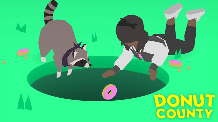 Game graphics of Donut County