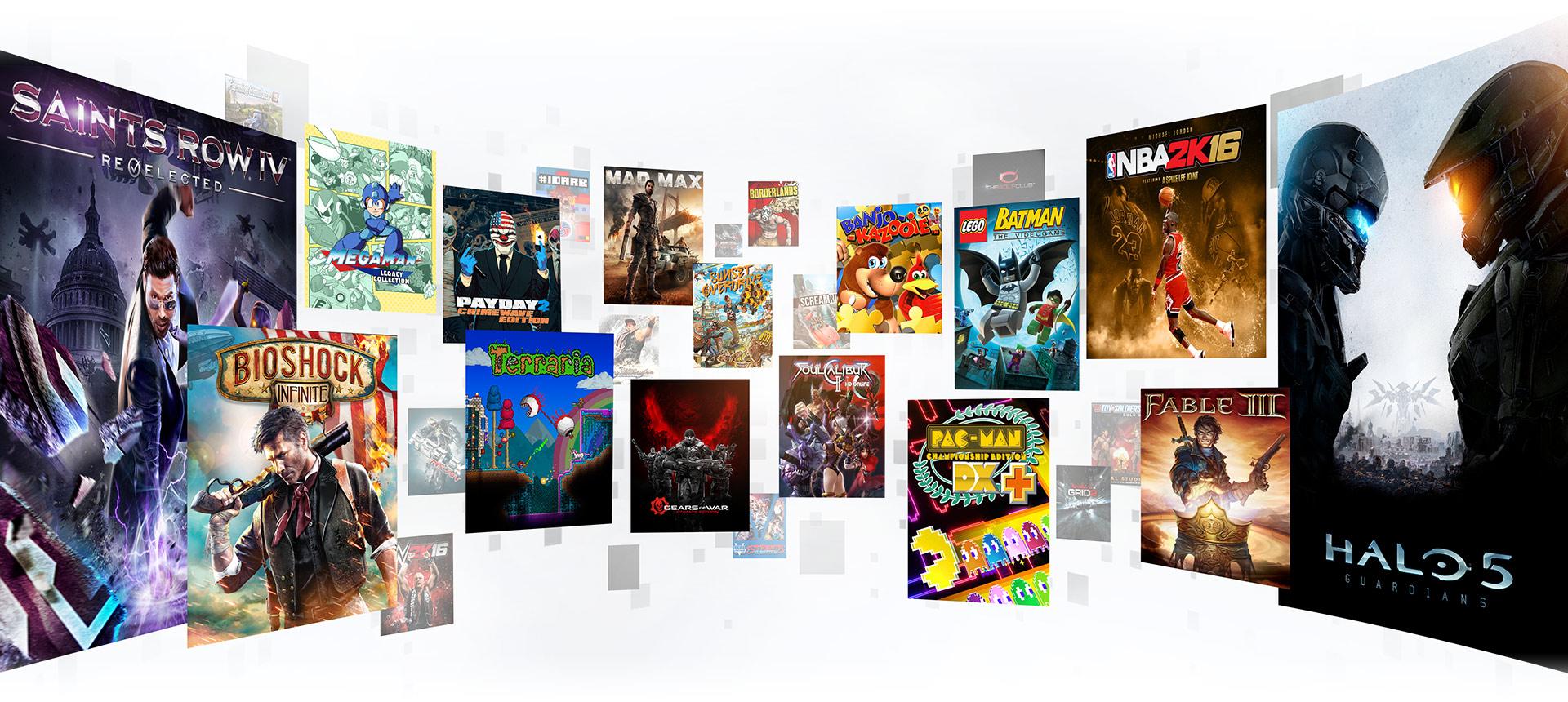 A collage of Xbox game pass games