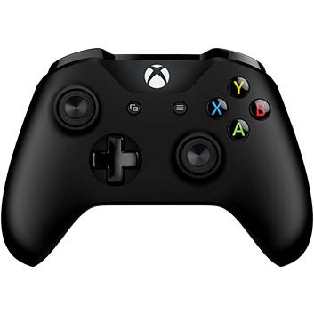 vista frontal de los Control inalámbrico Xbox: negro