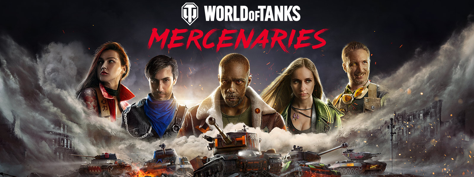 World of Tanks Mercenaries, vijf personages en tanks